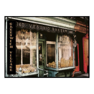 Boulangerie de Vesuvio, NYC, affiche