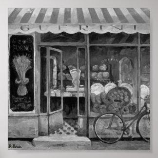 Boulangerie Enfourner (Italie) OilsOriginalAtw Poster