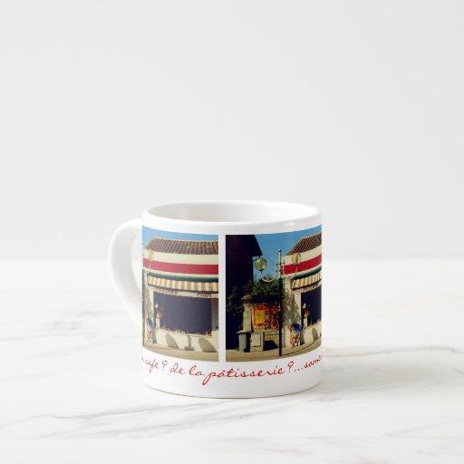 Boulangerie française de village mugs pour expresso