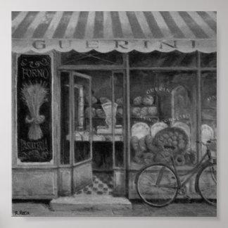 Boulangerie Guerini Enfourner (Italie) Charcoil OU Posters