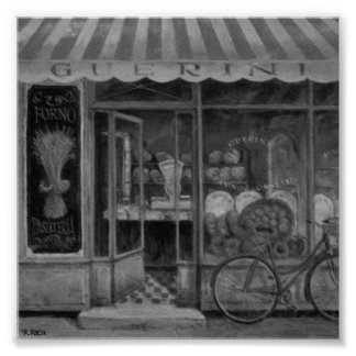Boulangerie Guerini Enfourner (Italie) Charcoil OU Poster