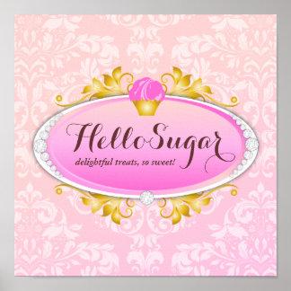 Boulangerie personnalisable de sucre du bonjour 31 poster