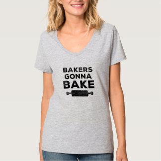 Boulangers allant faire cuire au four tee shirts