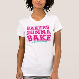 Boulangers allant faire la chemise cuire au four t-shirts