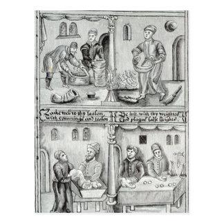 Boulangers de York, A.D, 1595-96 Carte Postale