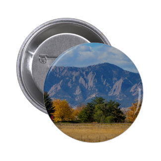 Boulder Colorado Autumn Flatiron Afternoon 2 Inch Round Button