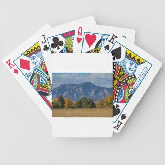 Boulder Colorado Autumn Flatiron Afternoon Bicycle Playing Cards