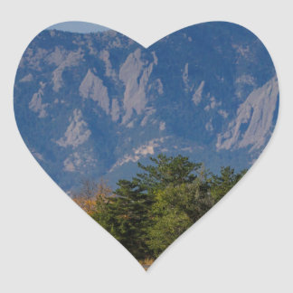 Boulder Colorado Autumn Flatiron Afternoon Heart Sticker