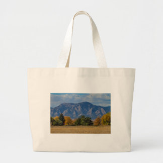 Boulder Colorado Autumn Flatiron Afternoon Large Tote Bag