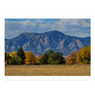 Boulder Colorado Autumn Flatiron Afternoon Postcard
