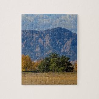 Boulder Colorado Autumn Flatiron Afternoon Puzzles