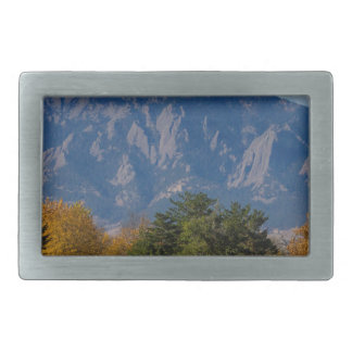 Boulder Colorado Autumn Flatiron Afternoon Rectangular Belt Buckle