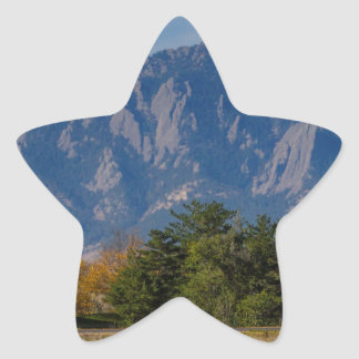 Boulder Colorado Autumn Flatiron Afternoon Star Sticker