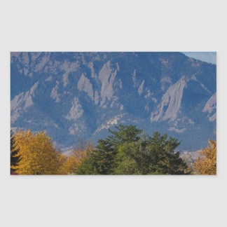 Boulder Colorado Autumn Flatiron Afternoon Sticker