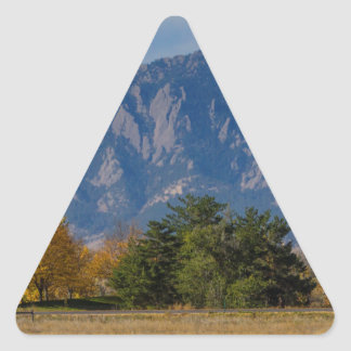 Boulder Colorado Autumn Flatiron Afternoon Triangle Sticker