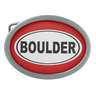 Boulder Colorado Belt Buckle