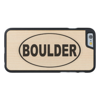Boulder Colorado Carved Maple iPhone 6 Case