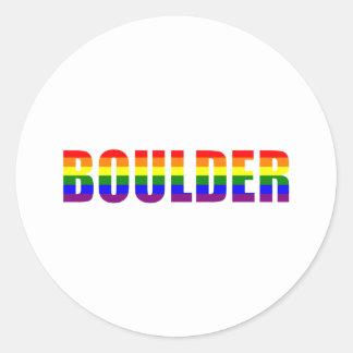 Boulder, Colorado Classic Round Sticker