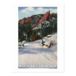 Boulder, Colorado - Flatirons in Winter Post Card