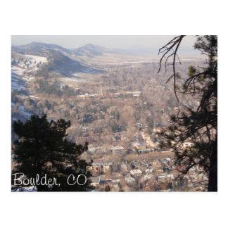 Boulder, Colorado from Above Postcard