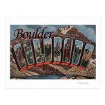Boulder, Colorado - Large Letter Scenes Post Card