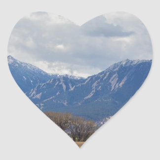Boulder Colorado Prairie Dog View Heart Sticker