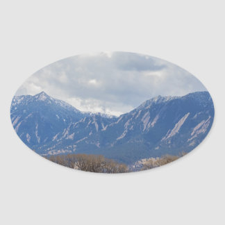 Boulder Colorado Prairie Dog View Oval Sticker
