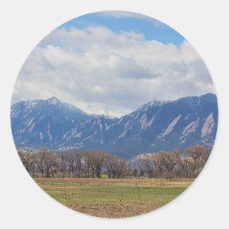 Boulder Colorado Prairie Dog View Round Sticker