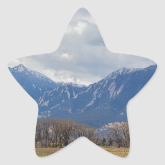 Boulder Colorado Prairie Dog View Star Sticker