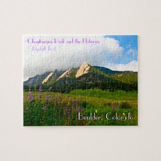 Boulder, Colorado Vintage Style Jigsaw Puzzle