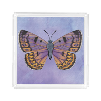 Boulder Copper Butterfly Acrylic Tray