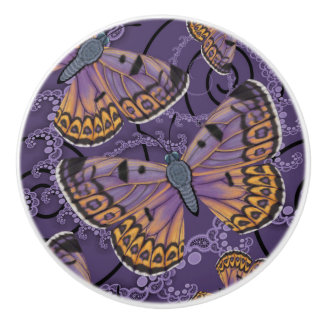 Boulder Copper Butterfly Ceramic Knob