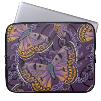 Boulder Copper Butterfly Fractal Laptop Sleeve