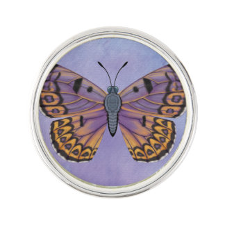Boulder Copper Butterfly Lapel Pin