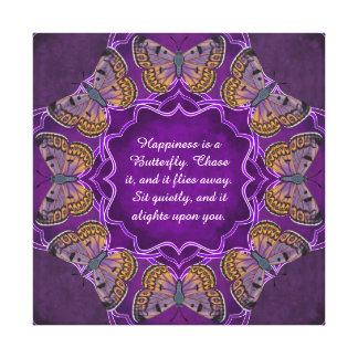 Boulder Copper Butterfly Mandala Canvas Print