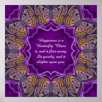 Boulder Copper Butterfly Mandala Poster