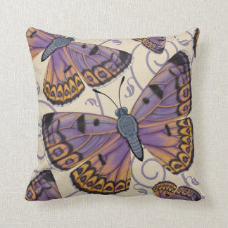 Boulder Copper Butterfly Reversible Throw Pillow