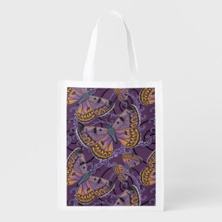 Boulder Copper Butterfly Swirl Reusable Grocery Bag