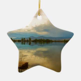 Boulder County Colorado Calm Before The Storm Ceramic Ornament