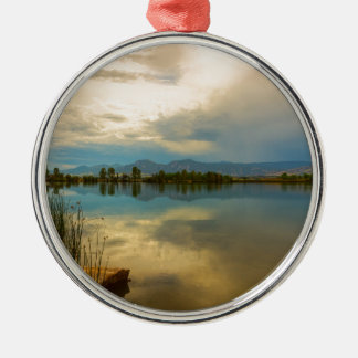 Boulder County Colorado Calm Before The Storm Metal Ornament