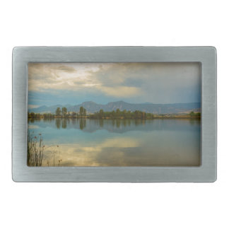 Boulder County Colorado Calm Before The Storm Rectangular Belt Buckle