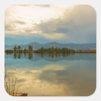 Boulder County Colorado Calm Before The Storm Square Sticker