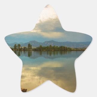 Boulder County Colorado Calm Before The Storm Star Sticker