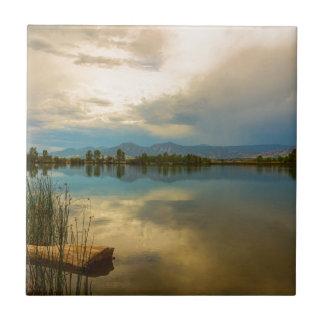 Boulder County Colorado Calm Before The Storm Tile
