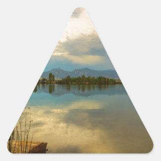 Boulder County Colorado Calm Before The Storm Triangle Sticker