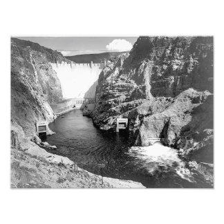 Boulder Dam aka Hoover Dam by Ansel Adams Photo Art