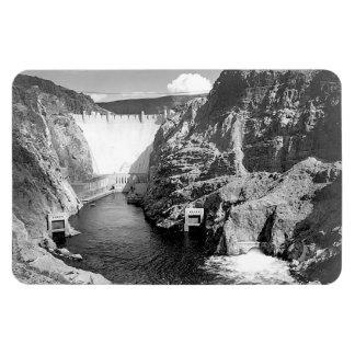 Boulder Dam aka Hoover Dam by Ansel Adams Magnet