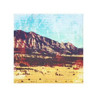 Boulder Flatirons Canvas Print