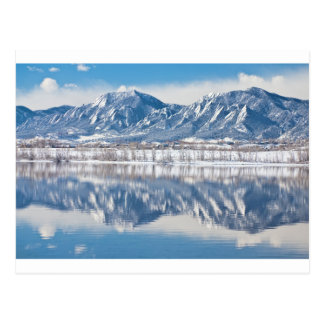 Boulder Reservoir Flatirons Reflections Boulder Co Postcard
