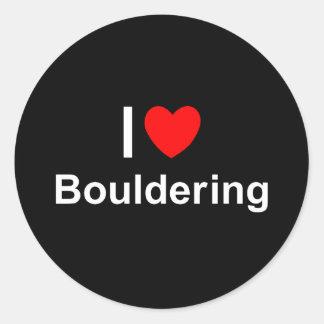 Bouldering Classic Round Sticker